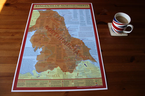 Kingdom of Northumbria map