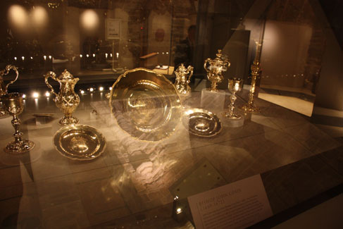 Silver plate of Bishop Cosin, Open Treasure. Photo: David Simpson