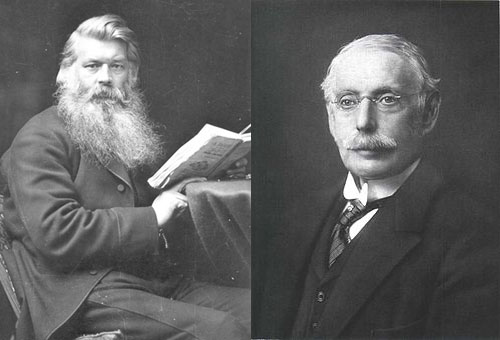 Joseph Swan (left) Charles Algernon Parsons (right)