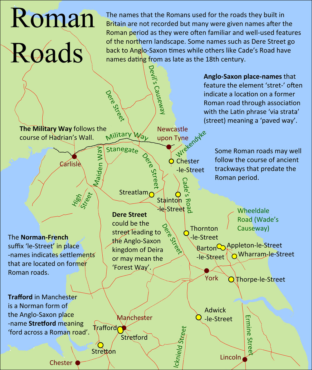 Roman Roads in Northern England.