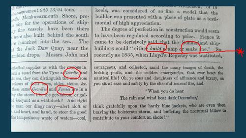 Desciption of mackems 1857