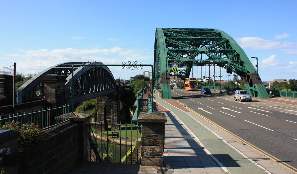 Rail bridge and Wearmouth Bridge