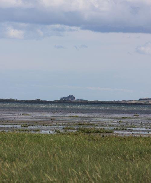 Bamburgh from Lindisfarne