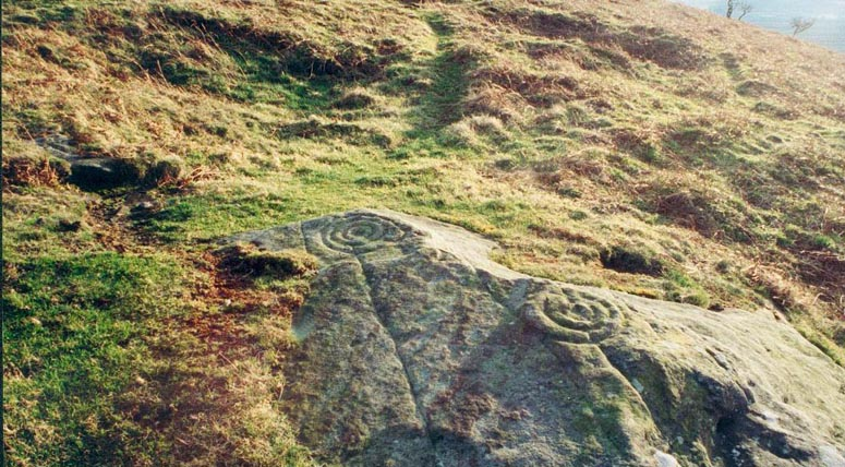 Cup and Ring markings on Doddington Moor