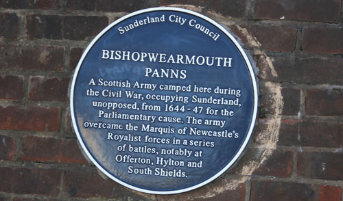 Panns Plaque Civil War Sunderland