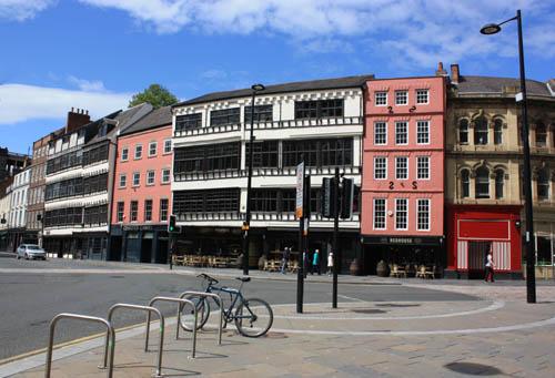 Sandhill 17th century merchants houses Newcastle