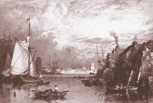South Shields Harbour around 1820