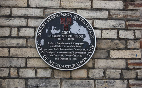 Stephenson Plaque Newcastle