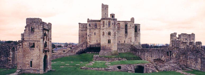 Warkworth Castle photographed by David Simpson