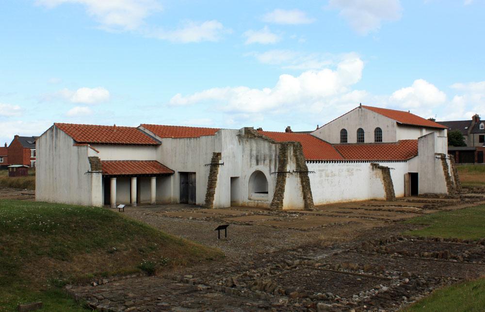 Arbeia Roman fort barracks