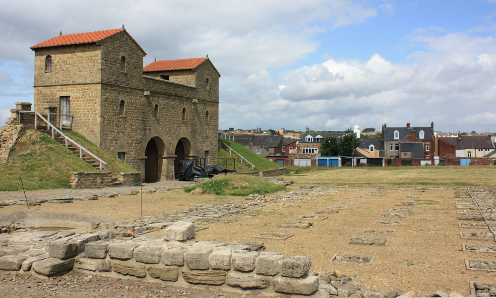 Roman gatehouse and fort at Arbeia