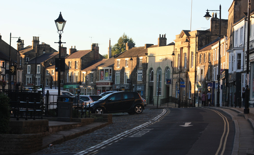 The town of Barnard Castle
