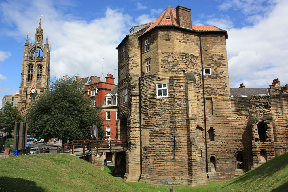 Cathedral and castle Blackgate Newcastle