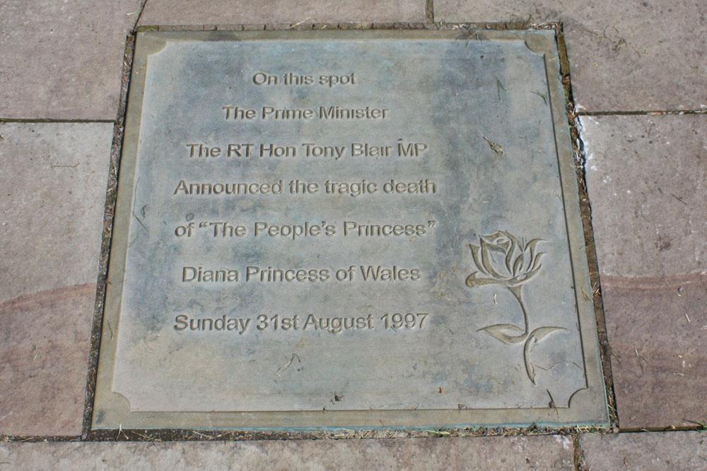 Commemorative stone Trimdon church