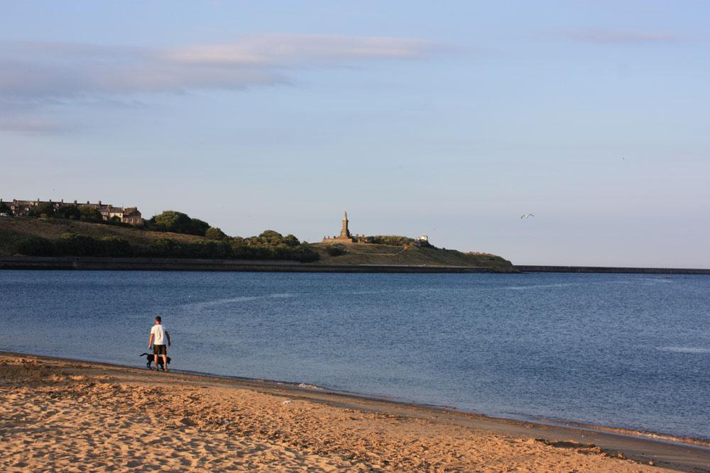 Walking the dog at North Shields