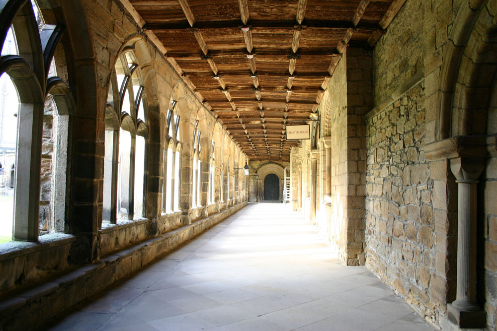 Eastern walkway, The Cloisters, Durham Cathedral.