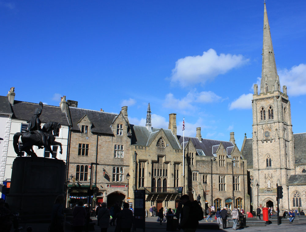 Durham Market Place Silver Street And Saddler Street