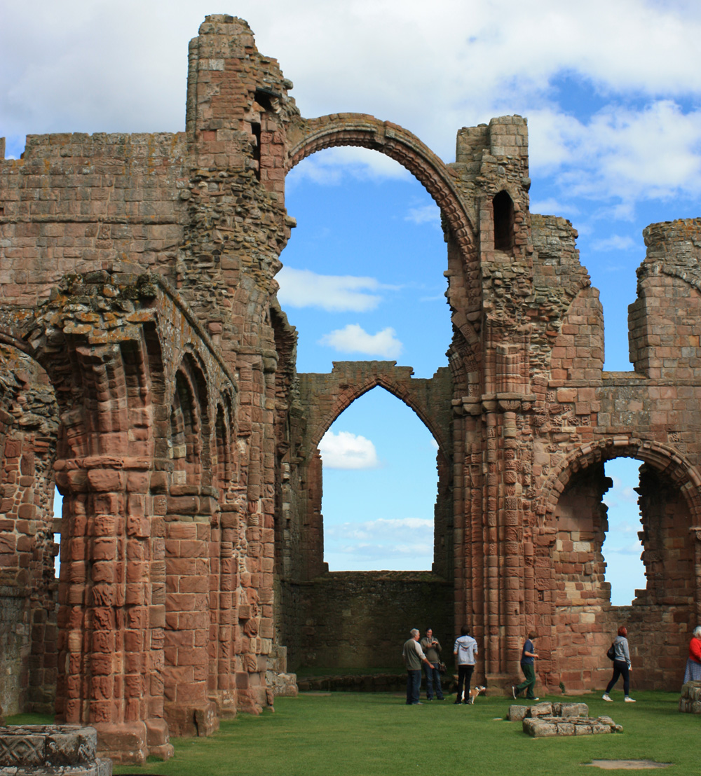 Ruins of the Norman priory, Lindisfarne