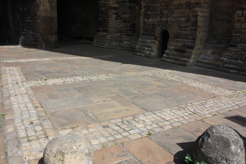 Outline of Roman fort near Newcastle castle