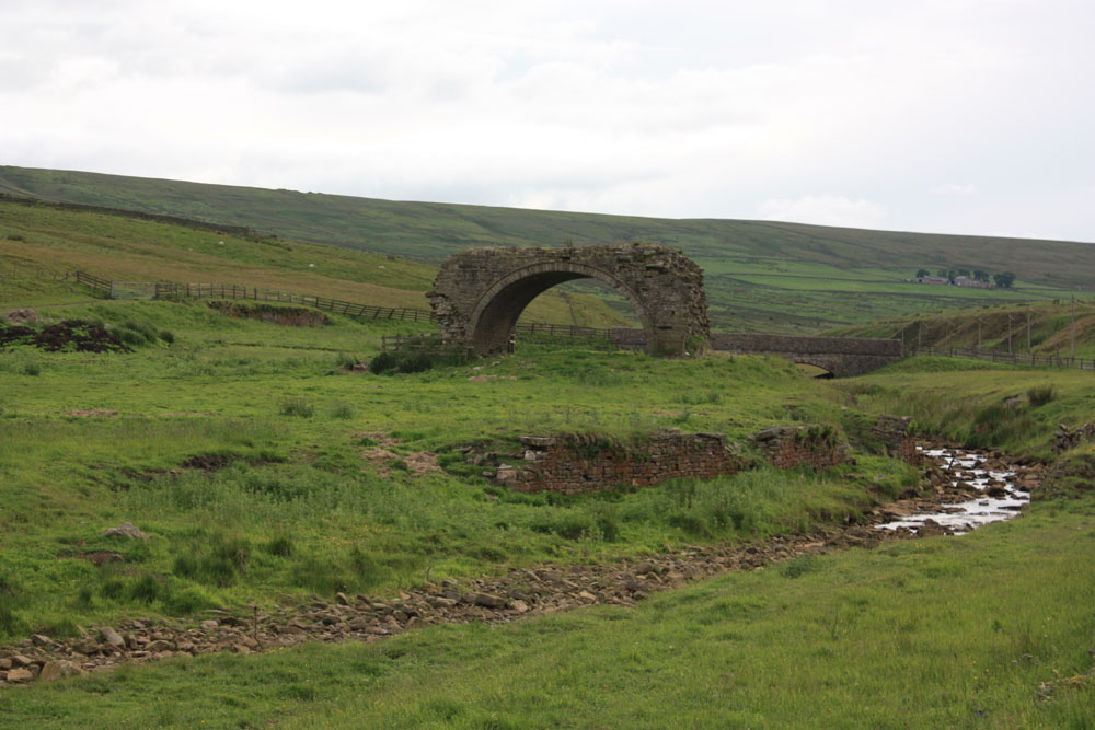 Remains of Rookhope Chimney, Weardale