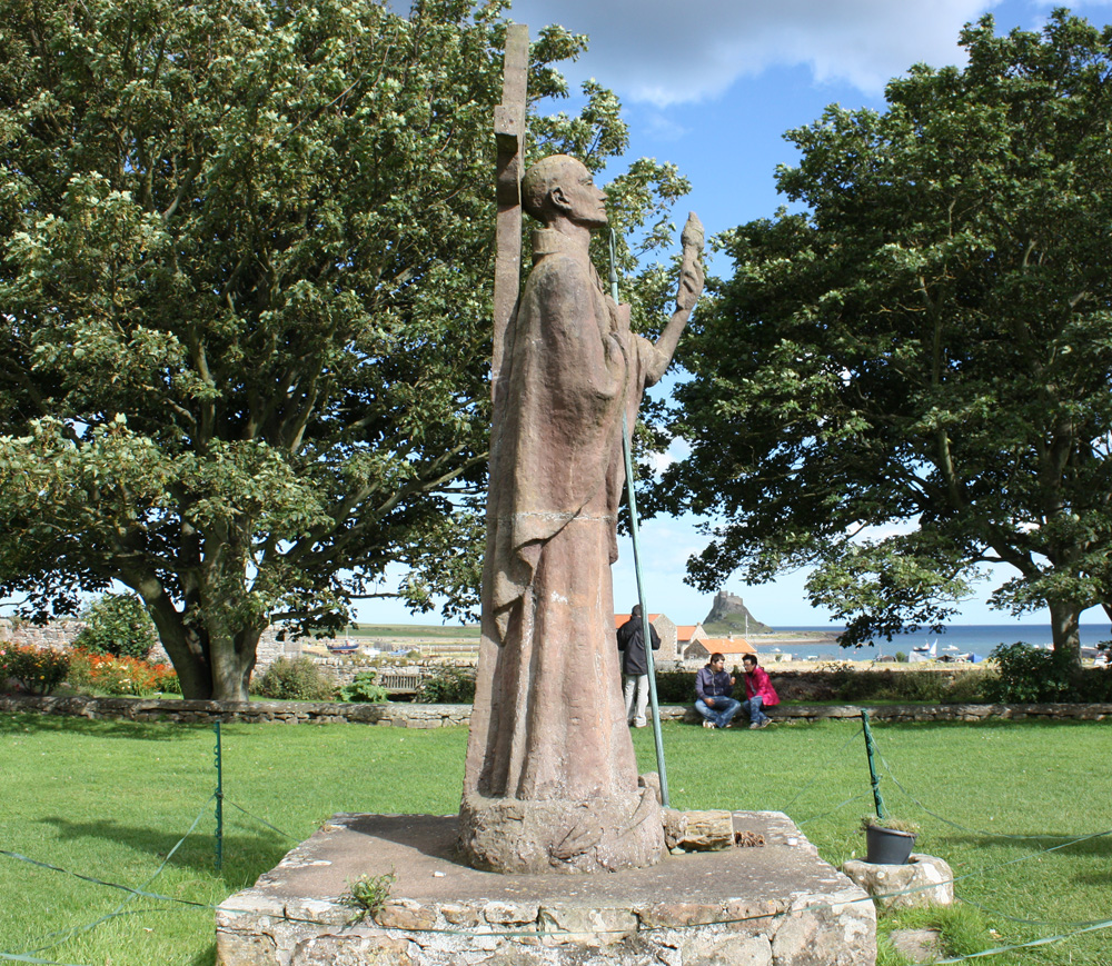 St Aidan sculpture, Lindisfarne.