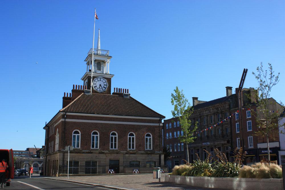 The town hall and bank, Stockton