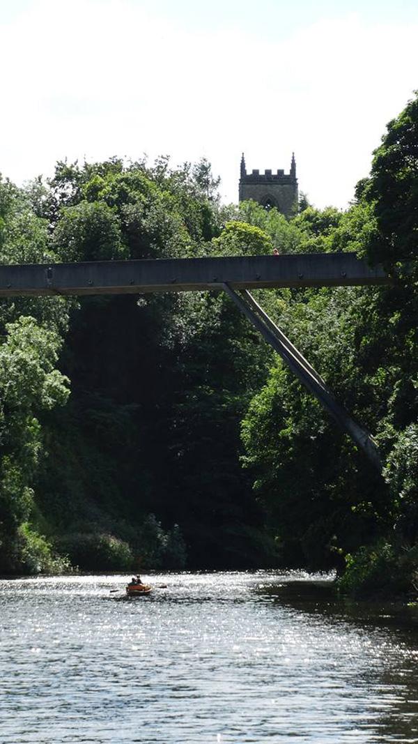 St Oswald's church and Kingsgate Bridge, Durham