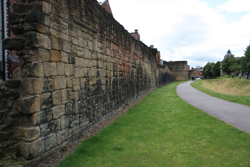 Section of the town wall near Stowell Street.