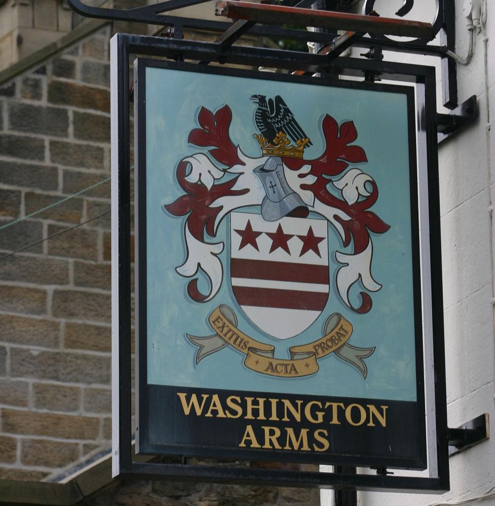 Pub sign, Washington Village