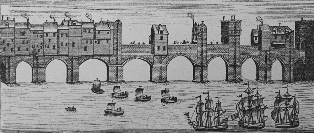 The Medieval bridge at Newcastle