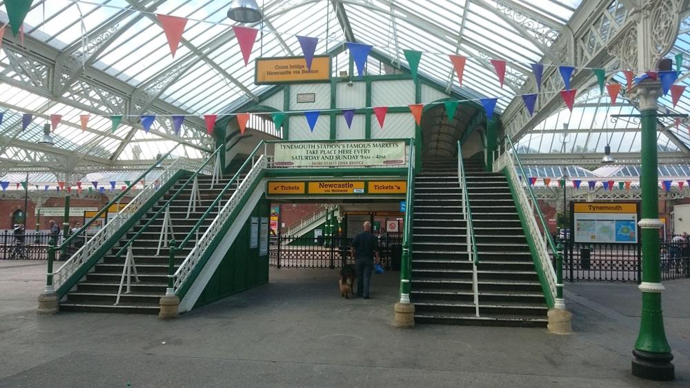 Inside Tynemouth station