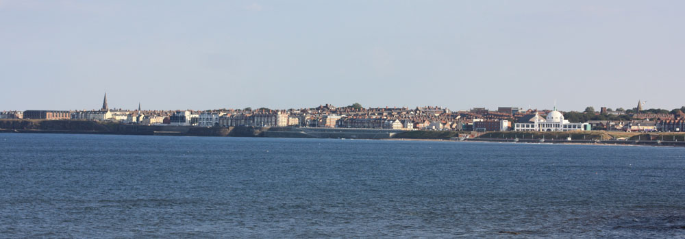 Whitley Bay from St. Mary's Island.