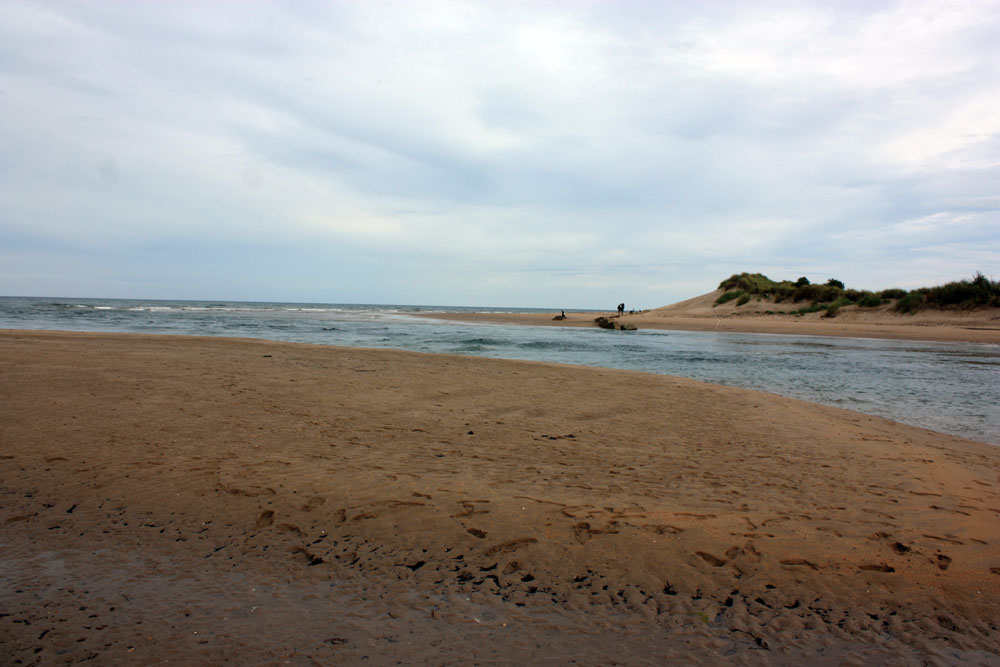 River meets the sea at Alnmouth
