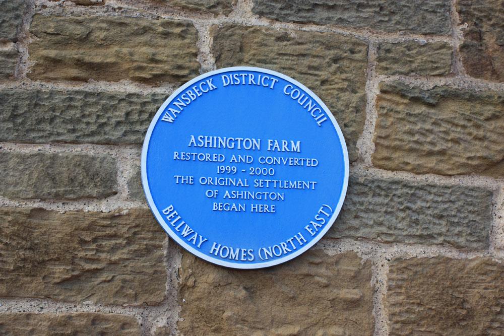 Ashington farm plaque