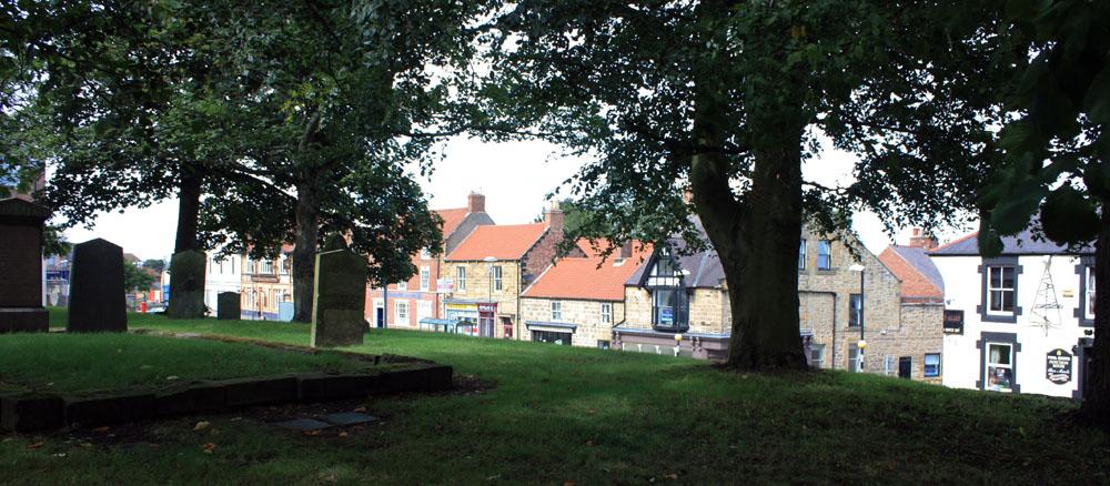 Bedlington from the churchyard.