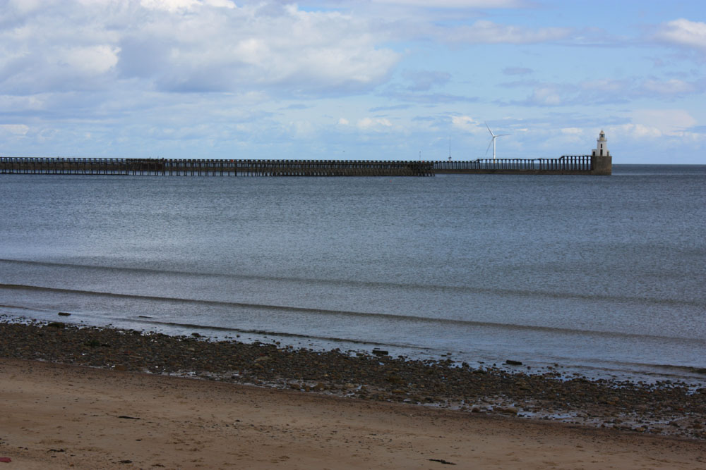 Blyth beach and harbour.