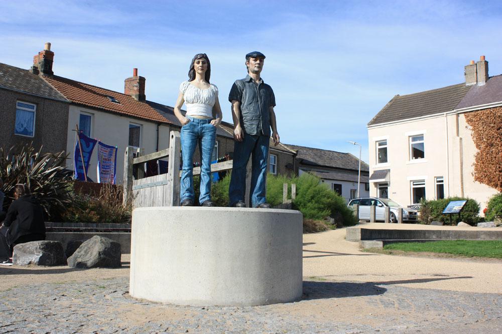 'The Land Couple', Newbiggin.
