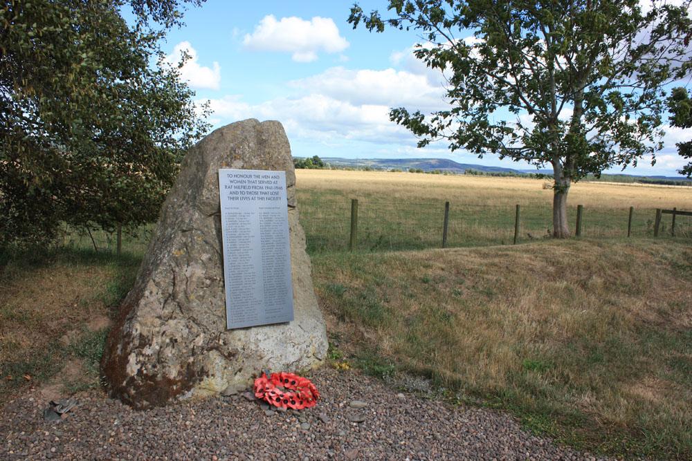 RAF Milfield memorial.