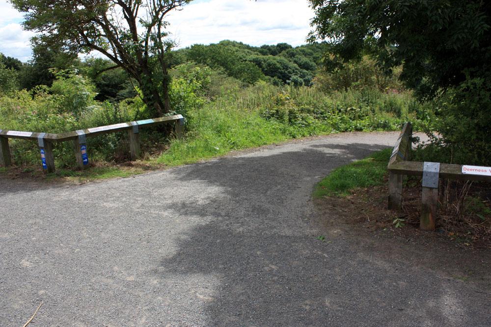 Three railway paths at Broompark.