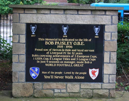 Bob Paisley memorial Hetton