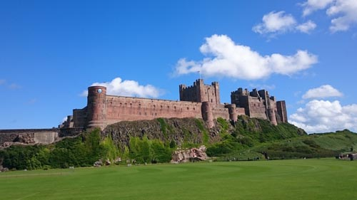 Bamburgh Castle, where the Kings of Northumbria ruled. Photo David Simpson
