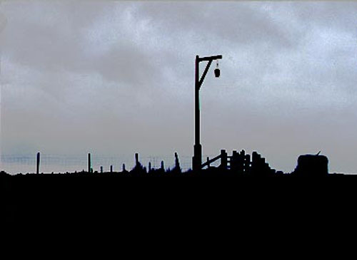 The practice of leaving the body parts of executed criminals hanging for all to see was once common. This 'gibbet' in Redesdale, Northumberland recalls a local murderer who was hanged at Newcastle in 1791. The real head of the criminal was, however eventually replaced by the wooden one seen hanging here. Photo: David Simpson