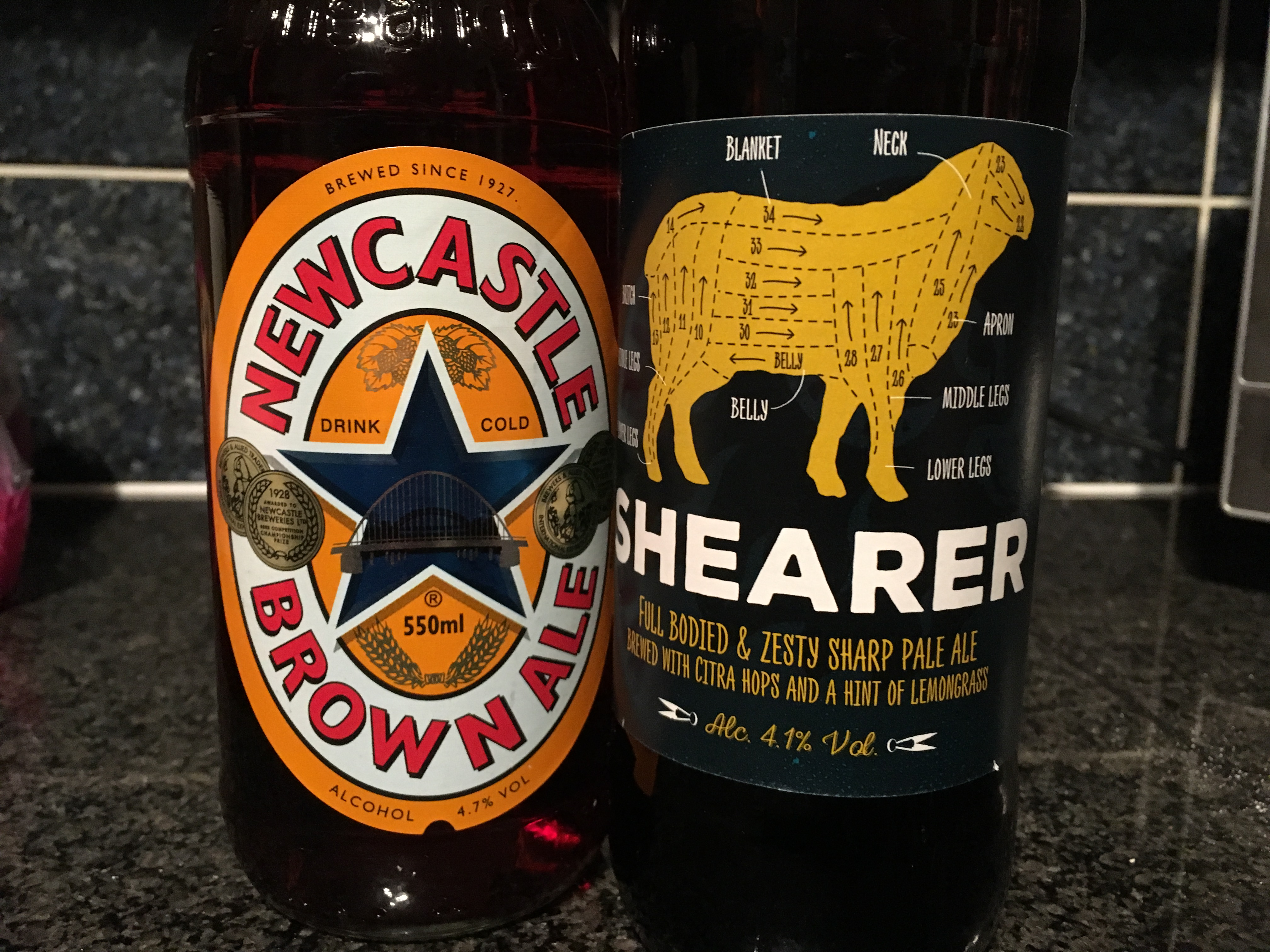 Shearer and Newcastle Brown Ale