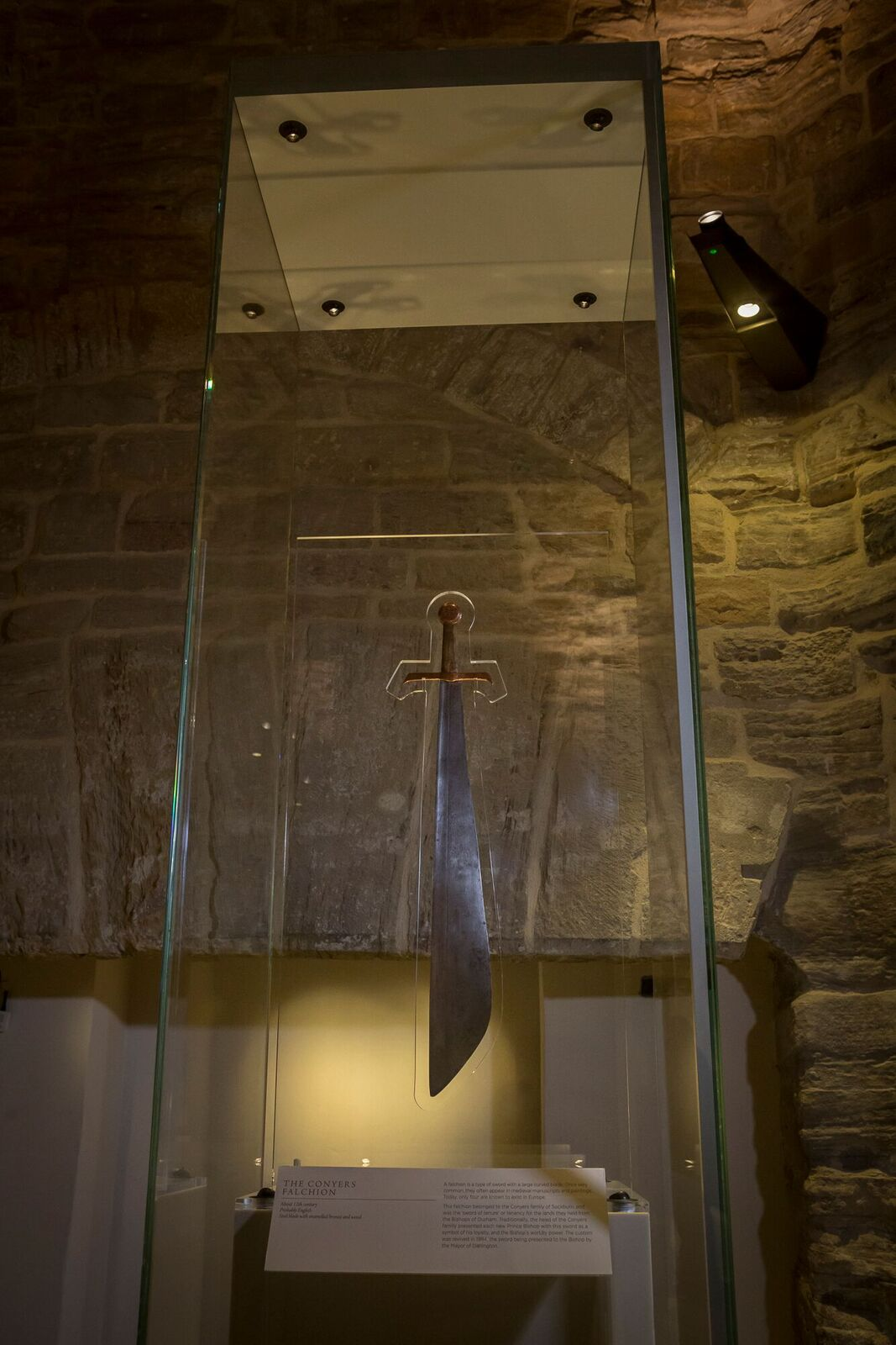 The Conyers flachion, a medieval sword used in a ceremony for newly appointed Bishops of Durham is another highlight of the exhibition.