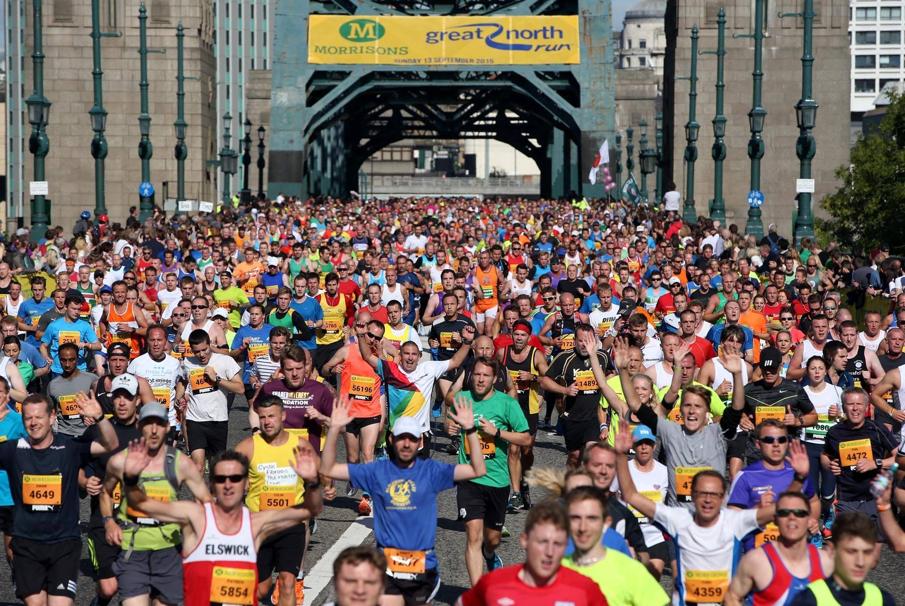 Great North Run and Tyne Bridge