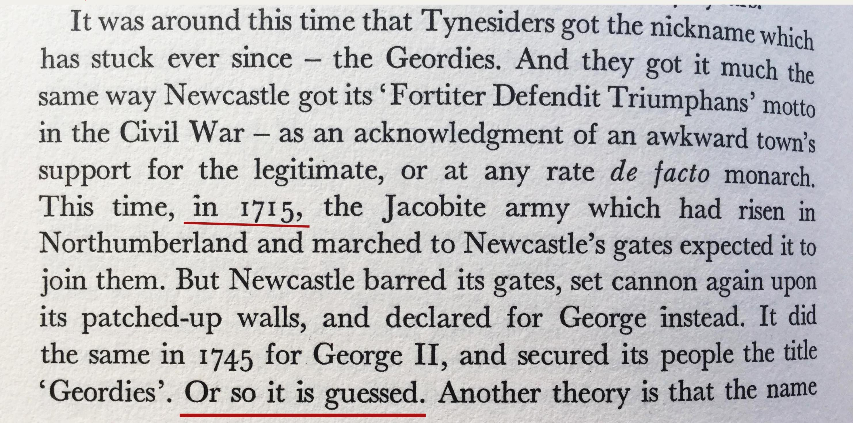 David Bean's explanation of 'Geordie' from Tyneside : A Biography (1971)