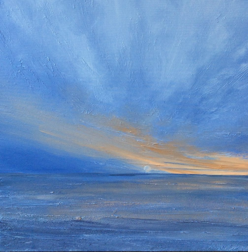 February Sunrise. Painted by Mick Oxley.