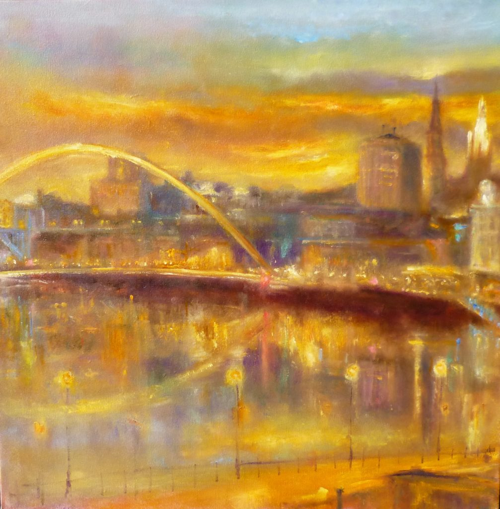 'City Life' Kate Van Suddese, the Gateshead Millennium Bridge.