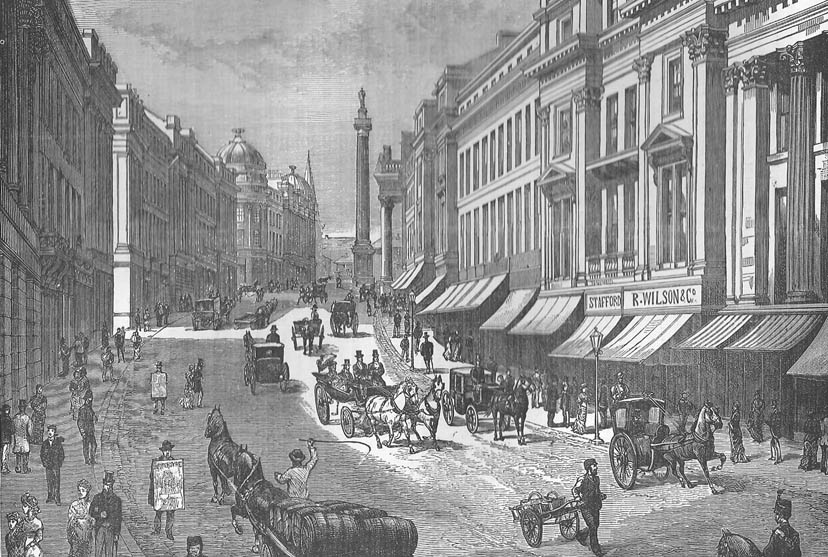 Grey Street in the nineteenth century