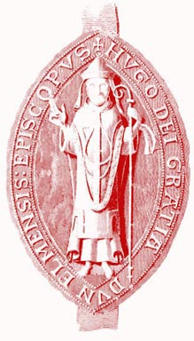 The seal of Prince Bishop Hugh Pudsey who established the boroughs of Sunderland and Gateshead